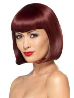 Deluxe Bob Wig With Shaped Fringe
