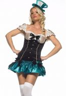 Leg Avenue Sexy Mad Hatter Alice Tea Party Princess Fancy Dress Costume