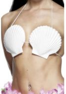 Hawaiian Seashell Bra, White