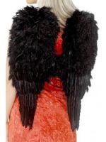Women's Feather Angel Wings, Black