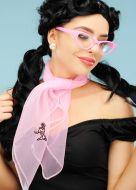 50s Pink Poodle Neck Scarf