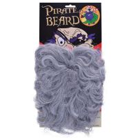 Bristol Novelty Pirate beard. Wavy Grey