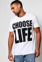 Oversized Choose Life T Shirt