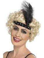 1920's Flapper Headband Feather