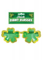 St Patricks Day Giant Shamrock Clover Glasses