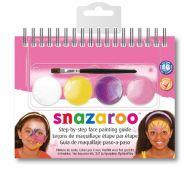 Snazaroo 4 colour step by step