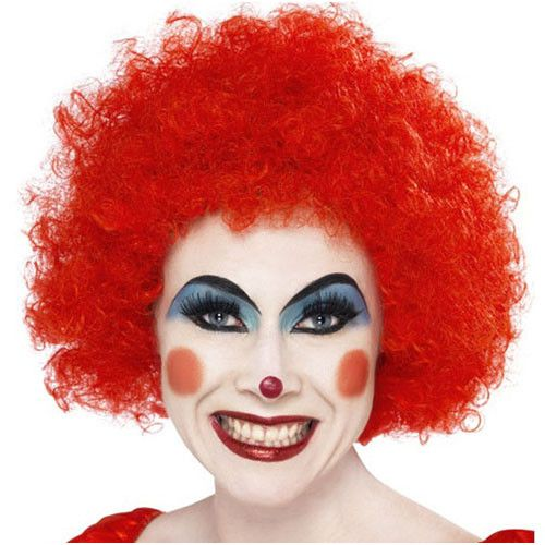 Afro/clown wig in red