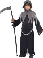 Grim Reaper Costume Child Includes Cloak and Hood