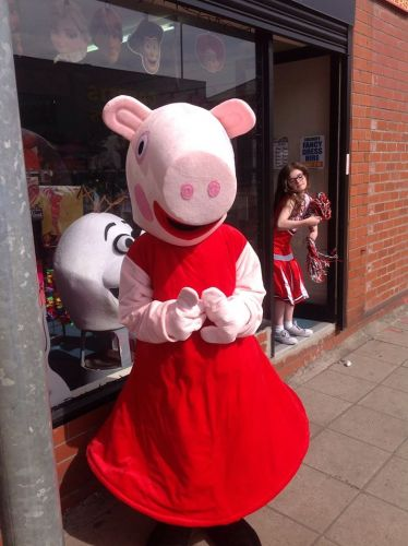 Peppa Pig Mascot For Hire Fancy Dress Heywood Manchester Bury