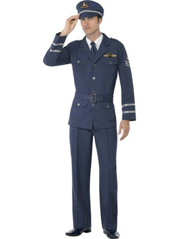 WW2 Air Force Captain - Adult Costume 1940