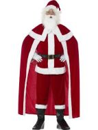 Deluxe Santa Claus Men's Christmas Fancy Dress Costume