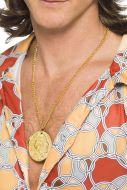 Gold Metal Medallion On Chain