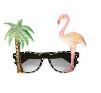 Hawaiian Flamingo Glasses Sunglasses Neon Tropical