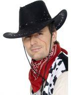 Suede Look Cowboy Hat, Black
