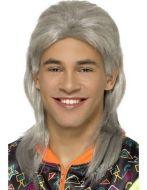 80's Mullet Wig, Grey