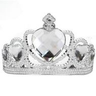 Bristol Novelty - Silver Tiara with Clear Gems