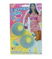 eBay     >     Jewellery & Watches     >     Costume Jewellery     >     Earrings  Mod Girl Earrings 60s 70s Glitter Silver Earrings Swirl Costume Jewellery