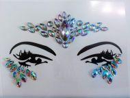 Glitter Joy Face Gems Rock Sticky Adhesive Temporary Tattoo - JEWEL Diamante