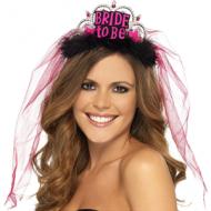 Bride To Be Black Tiara with Veil