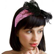 80's Pink Lace Headband