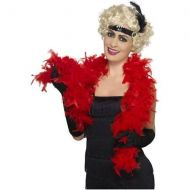 Feather Boa, Red