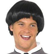 60's Bowl Mod Wig - Black