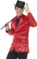 Sequin Jacket, Mens Red