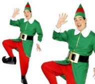Elf Costume, Green and Red